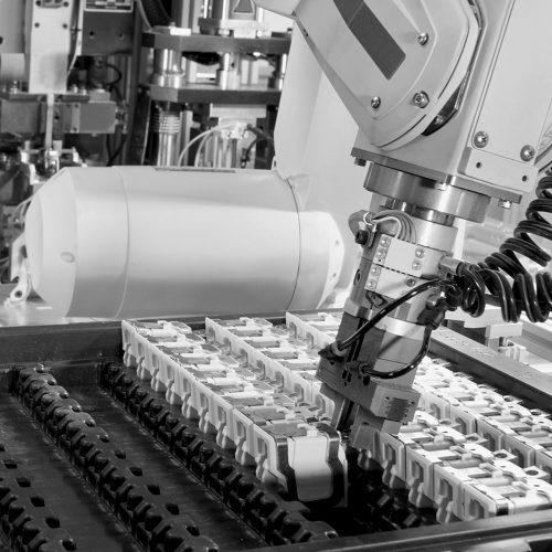 Roboter-Industrieanlage