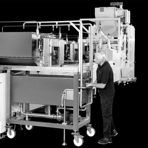 Industrie-Mitarbeiter-Produktionsanlage-